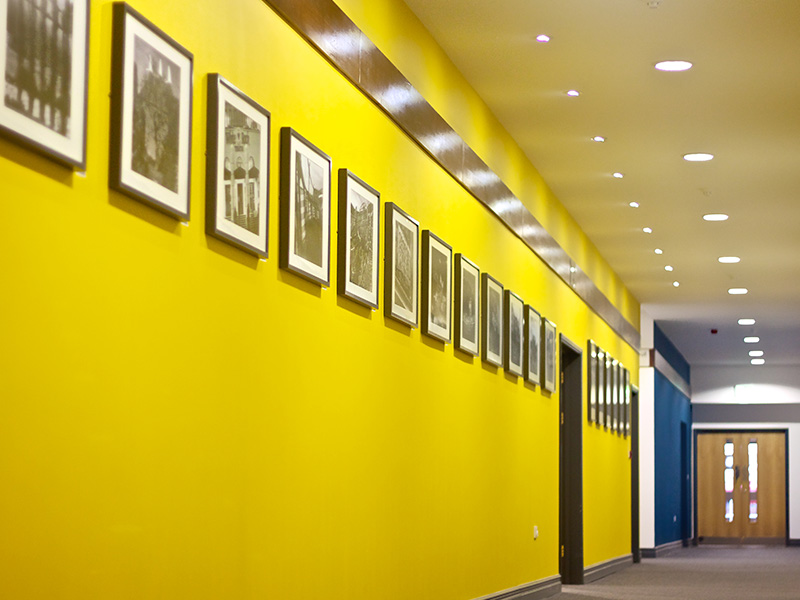 Colourful Conference Centre Corridor